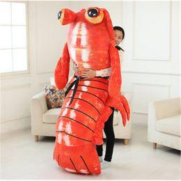Wholesale Jumbo Plush Stuffed Animals - Jumbo Pop Anime Mantis Shrimp Plush Toy Giant Stuffed Soft Simulated Sea Animals Lobster Doll for Adult and Children Gifts