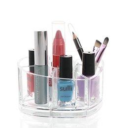 Wholesale Eco Friendly Nail Polish - Creative Transparent Crystal Plastic Nail Polish Lipstick Cosmetics Cosmetic Organizer Acrylic Crystal Dress Storage Box Desktop