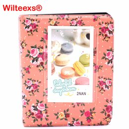 Wholesale Fuji Instant - WILTEEXS 64 Pockets Flower Photo Album Wedding for 3 Inch Mini Instant Fuji Instax Name Card Album de Fotografia 7s 8 9 25 50s