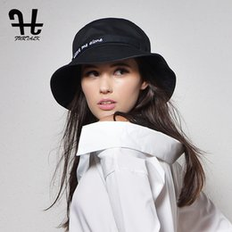78e4f937f38 Furtalk Women s fashion Summer brand Sunhat Embroidery Cotton Bucket Hat  for women with Big Fold-up Brim Packable Hats