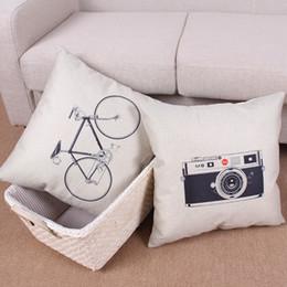 lança câmera Desconto Bicicleta fronha, Criativa Preto minimalista câmera branca lance fronha fronha Atacado