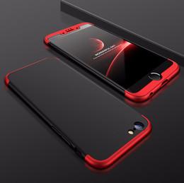 haus malerei farbe Rabatt Großhandel dreistufige Peeling und Drop Protection Painted Back Cover Gehäuse für Iphone 7 Iphone 8 Sechs Farbe All-inclusive-Material PC