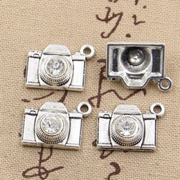 Wholesale 16mm Cameras - whole sale4pcs Charms camera 20*16mm Antique Making pendant fit,Vintage Tibetan Silver,DIY bracelet necklace