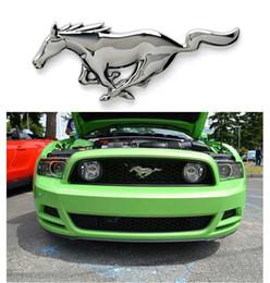 Pour Ford Mustang Shelby GT 3D En Métal Chrome Argent Running Cheval Moteur Tête Avant Capot Grill Grill Emblème ? partir de fabricateur