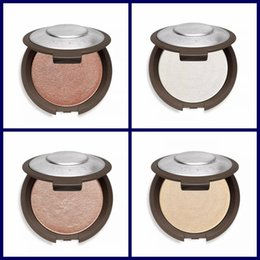 Wholesale gold bare - HOTTEST Becca Moonstone Opal Rose Gold Pearl Face Powder Brighten Shimmering Skin Perfector Pressed 4 Colors Bare Face Makeup Palette