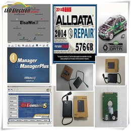 Wholesale Usb Hdd Reader - New Alldata and mitchell on demand softwar 2015+ElsaWin+vivid workshop ect all data 50 in1tb usb hdd work for all car and truck