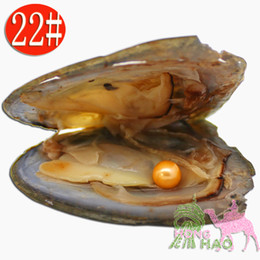Wholesale vacuum pick - Vacuum packed freshwater triangle pearl oyster, pearl AAAA6-7mm color is #22 orange, many colors can be picked (free shipping)