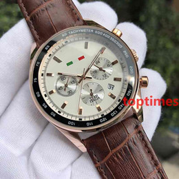 Wholesale chronograph watch cheap - Hot Brand Luxury Sports Watch Cheap Chronograph Black Band Quartz Mens Gold For Men Business Fashion Casual 5983 Reloj Watches Wristwatches
