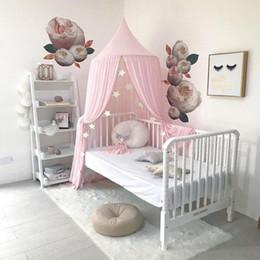 2019 ropa de cama princesa moderna Muebles para el hogar Decorar Chiffon Ventilación Cortina Repelente Mozzie Baby Bed Account Tienda Habitación para niños Mosquito Net Pure Color 63ym ff