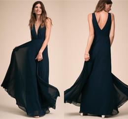 vestidos estilo francês Desconto Francês Colete V Profundo Baixo Voltar Elegante Um Estilo Dama de Honra Vestidos Multi Color Ball Evening Dresses DH4187