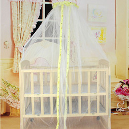 mosquito net canopy for cribs Canada - Summer Mosquito Net Baby Bed Mosquito Mesh Dome Curtain Net for Toddler Crib Cot Canopy High Quality Babies Kids Netting