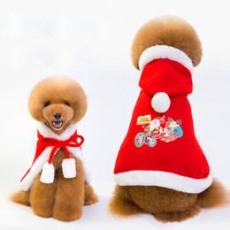 Cooler umhang online-Art- und Weiseweihnachtsmantel-Haustier-Hundehalloween-starke kühle Hundekleid-rote Festival-Kleidung-im Freienmäntel preiswerter Großverkauf