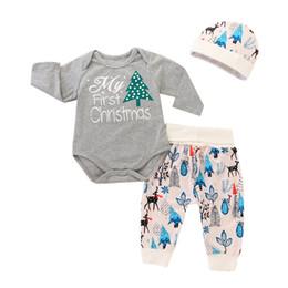 af44276d2aa4c 2019 bébés tenues premier noël Mikrdoo nouveau-né bébé vêtements de noël  ensemble ma première