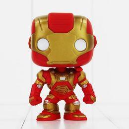 Wholesale Iron Man Funko - FUNKO POP Avengers Iron Man PVC Action Figure Collection Toy Doll 9.5cm 3 style