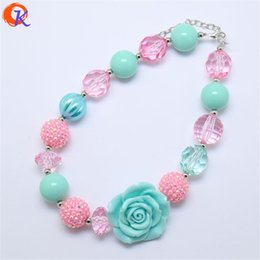 Wholesale Chunky Necklaces For Babies - whole saleCordial Design Cordial Design Cheap High Quality Kids Chunky Beads Aqua Resin Flower Necklace For Baby Gift CDNL-410239