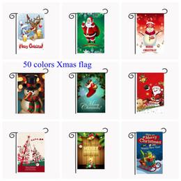 colores de la bandera Rebajas 50 colores banderas del jardín de Navidad 30 * 45cm colgante al aire libre Banderas poliéster Jardín decoraciones de Navidad Navidad decoración de la casa MMA354 10p-6