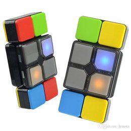 Wholesale Music For Toys - Magic Cube Flipslide Puzzle Toy With Light Music For Kid Newest Fold Slide Cube Brain Teasers 4 Mode Multiplayer Speed Level Memory Toys