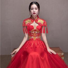 Wholesale Traditional Chinese Qipao Dresses - Shanghai Story traditional chinese wedding dress Qipao National Costume Women Dress Overseas Chinese Style Bride Dress Cheongsam