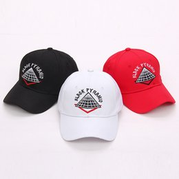Wholesale Vintage Men Baseball Caps - 2018 New Fashion cotton brand black pyramid baseball Caps vintage Hip Hop Snapbacks For Men Women flat canada golf trucker hat sandman