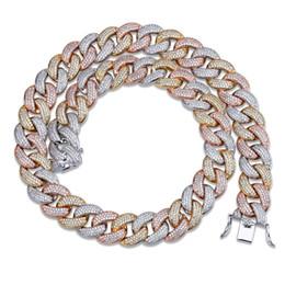 18 мм Майами Куба цепи мужчины роскошные хип-хоп браслеты ожерелья набор льда Bling кубического циркония 18K золото серебро хип-хоп цепи supplier zirconia necklace sets от Поставщики ожерелья из циркония