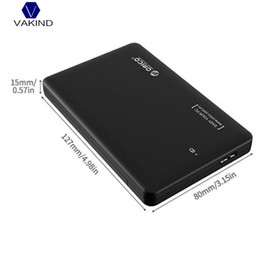 Wholesale Hard Drive Sata Usb - VAKIND USB3.0 To SATA HDD SSD External Enclosure Box Disk Case 1T With USB Cable For 2.5 inch Hard Disk Drive
