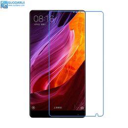 Para Xiaomi Mix Mix 2 ect Protector de pantalla de vidrio templado de buena calidad 0.26mm 2.5D 9H precisa película de agujero con paquete al por menor desde fabricantes