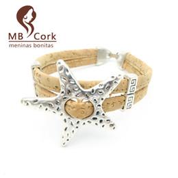Toute venteNaturel cork étoile de mer étoile de mer cork 17cm bracelet femmes Vintage bracelet naturel fait main bijoux vegan Brithday cadeau Br-96 ? partir de fabricateur