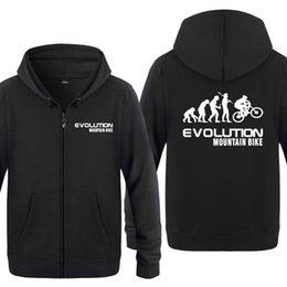 Evolution Of Mountain Bike Novità Hoodies Uomo 2018 Felpe con cappuccio in  pile con cerniera per uomo bike hoodies in vendita 12e0f47dd3d