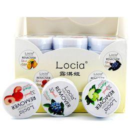 Wholesale nail polish wipes - Newest Locia Nail Polish Remover Non-toxic Fruit Flavor Cotton Nail Towel Cleaner UV Gel Nail Polish Remover