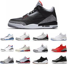Lancier en Ligne-2018 New Hot vente noir ciment gratuit lancer ligne chaussures de basket-ball hommes noir ciment blanc ciment chaussures de sport formateur sneaker taille 8-13