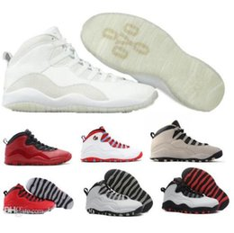 Wholesale Soccer Football Boots Brand - air Retro 10 Basketball Shoes Men Best Grey Air Retros 10s X Boys Athletic Sport Femme Homme China Brand Replica Training Sneakers Shoes