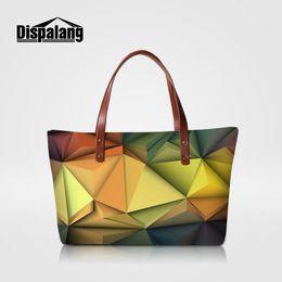Wholesale Designer Bas - 3D Diamonds Printing Woman Hand Bags Handbags Women Famous Brands Designer ladies Evening Party Totes Girls Beach Bags Stylish Tophandle Ba