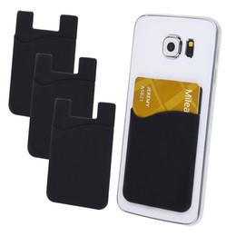 Canada Adhésif Silicone Smart Card Pocket Flexible Card Pocket Silicone Titulaire de la carte de téléphone portable Offre