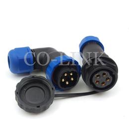 SD20, Conector a prueba de agua LED, Conector IP68 protegido con plástico Conector y clavija de 5 pines, Corriente nominal 25A, Conectores de cable de 5 pines desde fabricantes