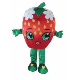 Traje de morango on-line-Halloween Morango Beijo Mascot Costume Outfit Birthday Party Fancy Dress