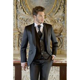 61a7653214 Custom Made Top Selling Designer New Tuxedos Man Suit Slim Fit Black Groom  Bridegroom Suits 3 Pieces (jacket+pants+Vest) K358
