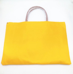 Wholesale black bag yellow handles - Fashion designer France Paris style luxury women lady brand handbag shopping bag tote bags with genuine leather trim and handle