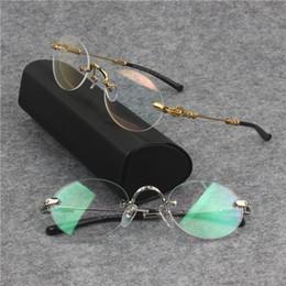 a14ded8f914 Men Optical Glasses Frame Brand Designer Rimless Eyeglasses Frames for Women  Fashion Retro Round Myopia Eyeglasses Frames with Original Case designer ...