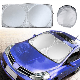 car window shading Coupons - Car Cover Auto Front Rear Window Foils Sun Shade Car Windshield Visor Cover Block Front Window Sunshade UV Protect Car Window Film