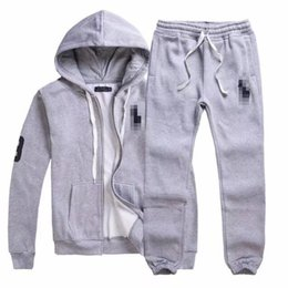 Wholesale Cool Hooded Sweatshirts - Men's Tracksuits polo Men Leisure Sport Suit Luxury Men's Sportswear Brand Hoodies Hip Hop Jogger Set Cool Sweatshirt Sudaderas Hombre