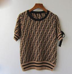 poncho de malha marrom Desconto Mulheres blusas pullover F Carta Outono E Inverno Qualidade Blusas de Tricô Camisola Feminina Fábrica made