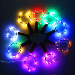 Wholesale Lr44 Battery Wholesale - 3 X AG13 (LR44) Coin Cells Battery Led Bottle Stopper String Lights for Xmas KTV Bar Party Home Holiday Decoration Fairy lights
