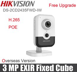 Wholesale Hikvision 3mp Ip Camera - HIKVISION DS-2CD2435FWD-IW 3MP Exir Fixed Cube Network Camera with POE H.265 replace ds-2cd2442fwd-is ds-2cd2432fwd-is IP Camera