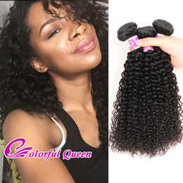Wholesale Afro Kinky Hair Braid - Crochet braid Brazilian Kinky Curly Human Hair Weft 3 Bundles 100% Brazilian Curly Human Hair Extensions Afro Kinky Curly for Micro Braiding