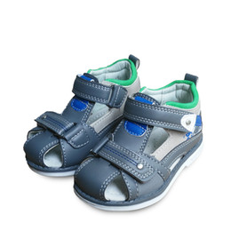 new boys sandal shoes Promo Codes - new 1pair Children boy arch support PU Sandals shoes+inner 13-16.3cm