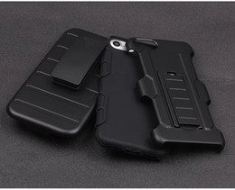 Wholesale military clips - For Iphone X 5 5S 5C 6 6S 7 8 Plus Military Armor Tough Belt Clips Holster Kickstand Stand Cover Case Rugged