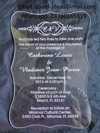 Muestra de tarjetas online-La muestra clara de acrílico de alta calidad de la tarjeta de las invitaciones de boda, boda invita Muestra, muestra de las invitaciones, invitaciones de la muestra