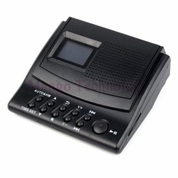 Wholesale Best Digital Recorders - Wholesale-Y4308Z Best Professional Digital Voice Recorder Phone Call Monitor with LCD Display+Caller ID+Clock 110V 220V Telephone Recorder
