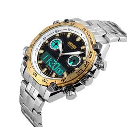 Мужская Мода Повседневная Кварцевые Наручные Часы Цифровые Двойные Часы Времени Спортивные Часы Relogio Masculino Супер Подарок для Мужчин supplier dual time wristwatch от Поставщики двойные наручные часы
