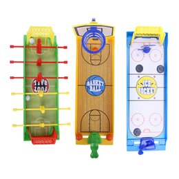 Wholesale Toys Basketball Board - Fingers Basketball Soccer ice hockey Kids Education Toys For Children Board Brain Hand-Eye Coordination Train Indoor Sport Toys